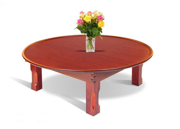 Asian Style Antique Round Table Folding Legs 90cm Living Room Furniture Korean Floor Dinning Wood Low Tea Coffee On Aliexpress Alibaba