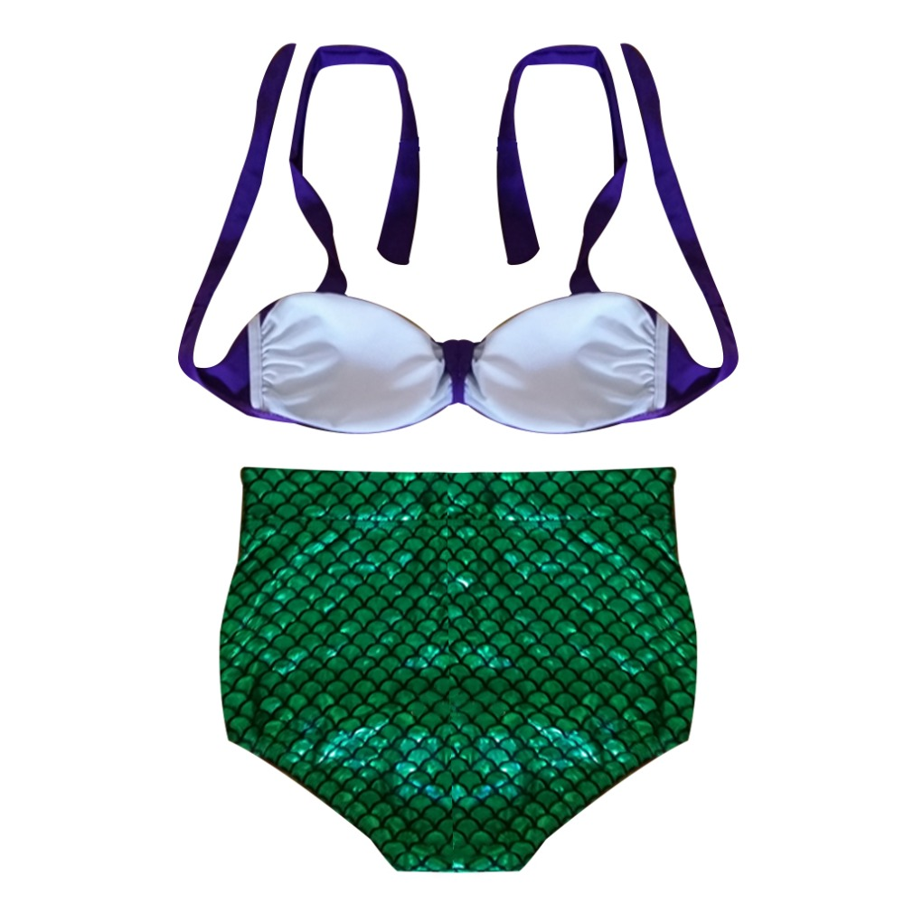 HWYHX 2016 New Sexy Women Padded Bikini 2 Pieces Women High Waist Swimsuit Mermaid Bikini Set Bathing Suit Swimwear New Brand аксессуар чехол sony xperia x melkco black 12779