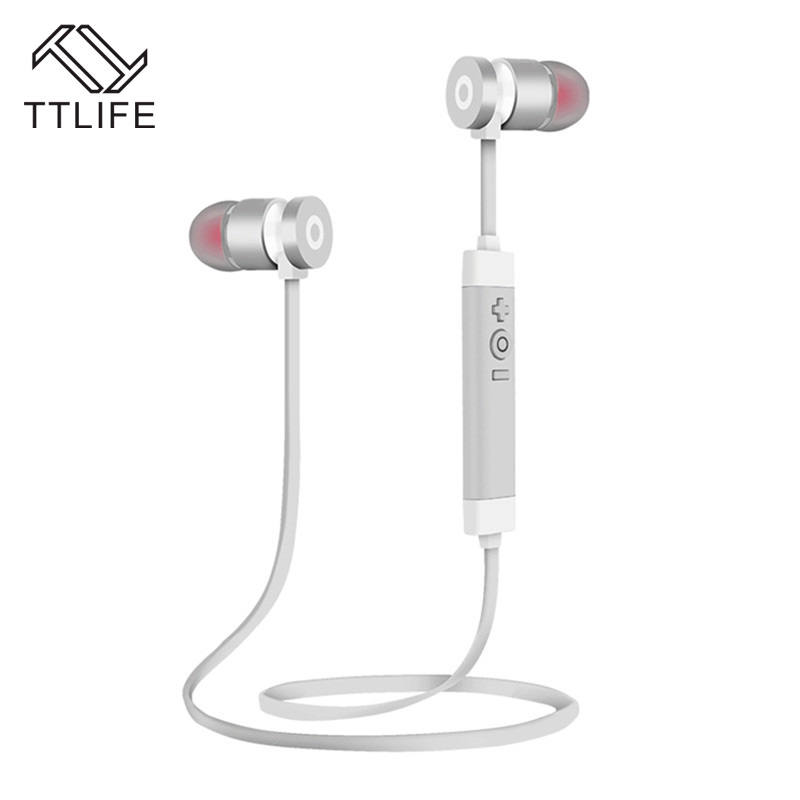TTLIFE Wireless Bluetooth Earphone Headset Sport fone de ouvido Noise Cancelling with mic For iPhone Xiaomi Smartphone Android 7