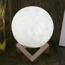 New Arrival 3D LED Luna Night Lights Moon Lamp Desk USB Charging Touch Protective Material Drop Ship