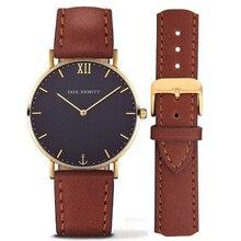 Hommes Montres Top Marque De Luxe Montre Hommes Femmes Montre En Cuir De Mode Hommes de Quartz-montre-Bracelet relogio masculino