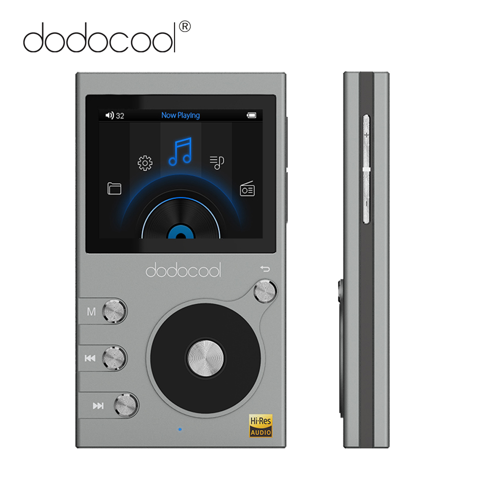 dodocool 8GB Mini MP3 Player HiFi Player 2in LCD Screen High Resolution Audio Music Player w/ FM Voice Recorder Support TF Card