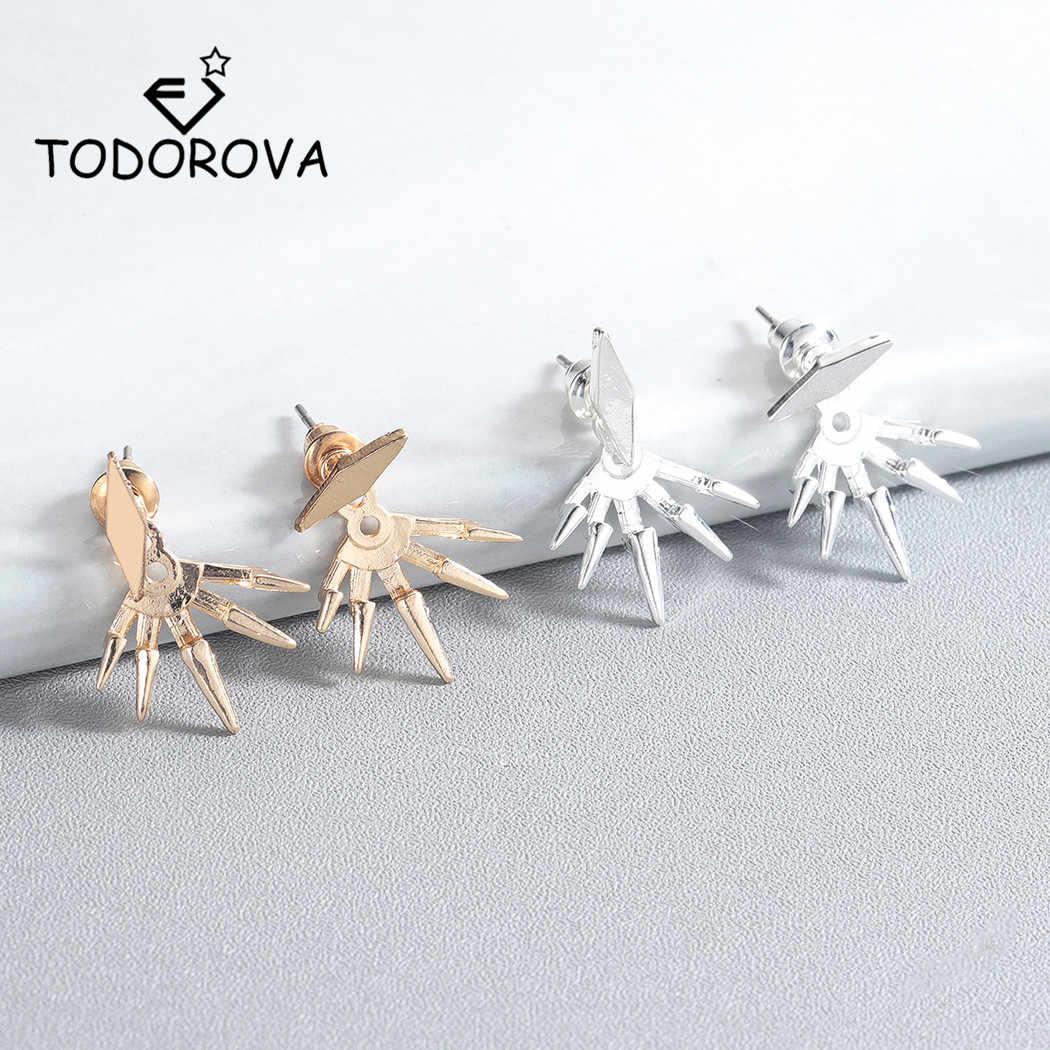 Todorova Новые стимпанк геометрические ушные куртки серьги с зубцами для женщин пирсинг серьги-кольца, модные ювелирные украшения Brincos