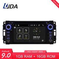 LJDA 7 Inch 2 DIN Android 9.0 Car DVD Player For Dodge RAM 1500 Chrysler Sebring Jeep Compass Commander Grand Cherokee Wrangler