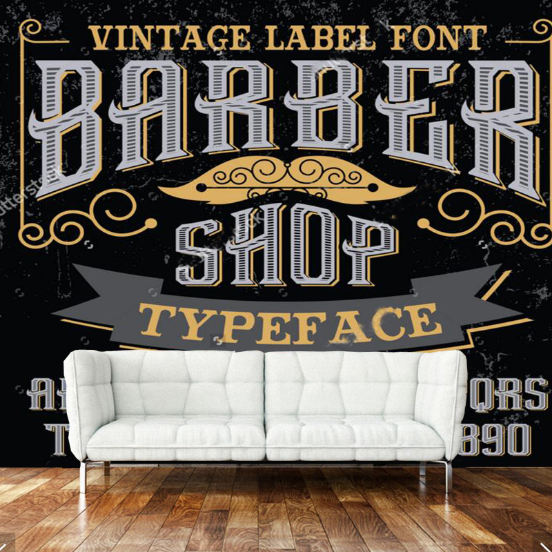 3D modern wallpaper, barber theme elements for the wall of the barber shop living room wall wallpaper PVC papel de parede сумка printio elements of harmony
