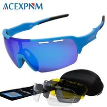 2019 Outdoor Sports Polarized Cycling Glasses Mountain Bike Goggles 4 Lens Eyewear UV400 Cycle Sunglasses