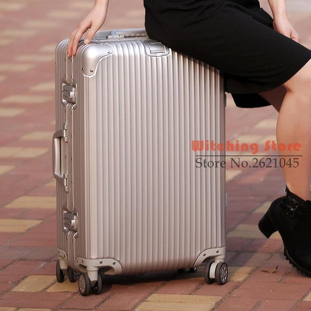 20 PULGADAS 202429 # con varilla de aluminio de aleación de aluminio y magnesio tablero de caja de bolsas de equipaje de ruedas universal del recorrido # EC ENVÍO GRATIS
