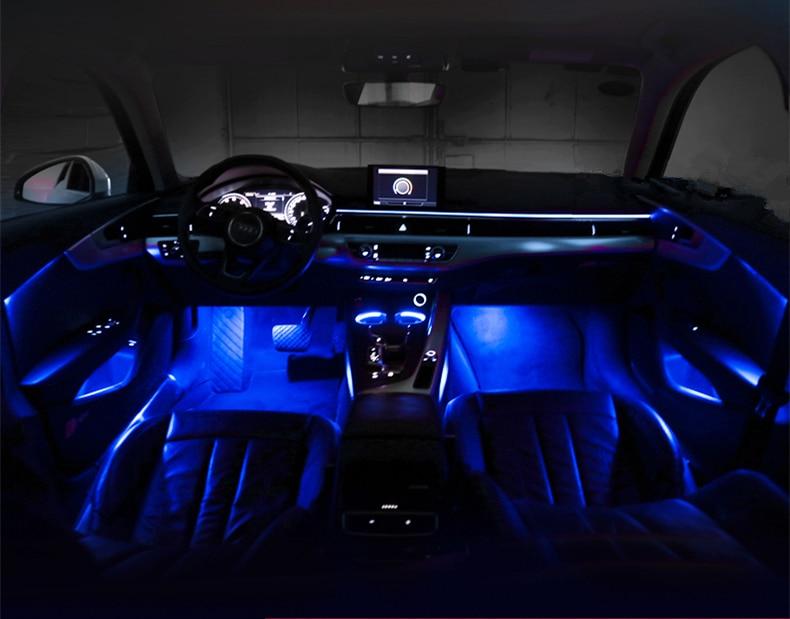 Interior Led Decorative Atmosphere Light Door Panel Decor Trim Car Ambient Light For Audi A3 A4 A5 A6 A7 Q5 Q7 Auto Fastener Clip Aliexpress