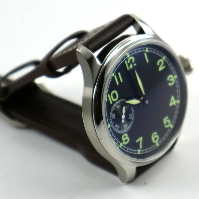 44mm parnis quadrante nero ST 3600 carica manuale 6497 mens orologio meccanico-in Orologi meccanici da Orologi da polso su  Gruppo 3