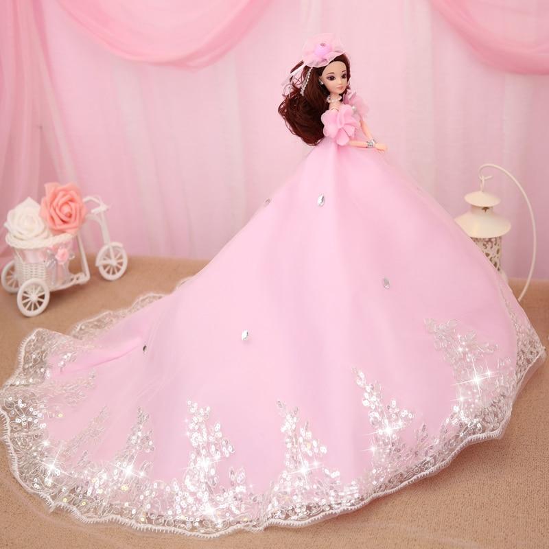 חם למכור 45CM שמלת כלה בובה Top Grade צעצועים אוסף קבל בובות נשוי יום הולדת מתנה עבור בנות מתנה לילדים 22