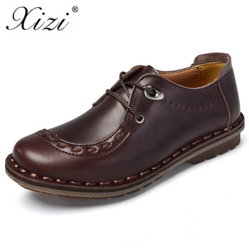XIZI Brand Handmade 100% Genuine Leather Men footwear Casual Shoe Male High Quality moccasins Casual loafers boat shoes for men