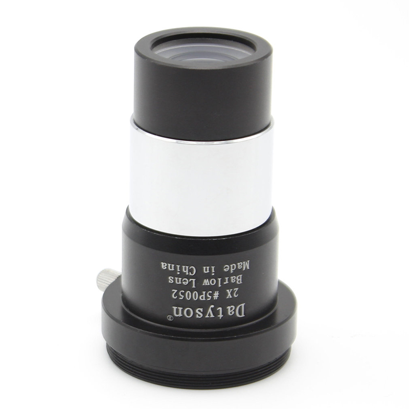 Datyson 2X Barlow Lens Multi Coated for 1.25 Astronomical Telescope Eyepiece Ocular with M42x0.75mm Male Thread for T//T2