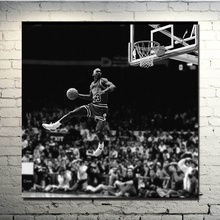 8aede9e3a35 michael jordan dunk contest Silk Fabric Poster And Print Wall Art Picture  Painting Home Decor(