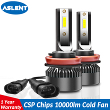 Aslent Super Mini Size H4 LED 9005 HB3 9006 HB4 H7 H11 H8 H1 Auto Lamp Car Headlight Bulb Lamps for 72W 8000LM 6000K 12V