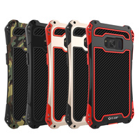For Samsung S8 Plus Case ShockProof Aluminum Metal Cover Carbon Fiber Phone Armor For Samsung