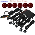 LED Display monitor Car Radar System Indicator 6 Sensors Reverse Radar 44 colors for choice