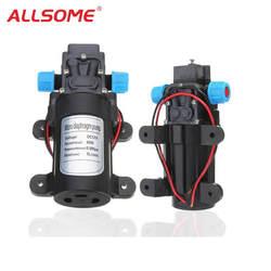 ALLSOME DC12V 24 В 60 Вт 5L/мин двигателя высокая Давление Micro Мембранный воды Самовсасывающий насос для воды очиститель герметики лодка