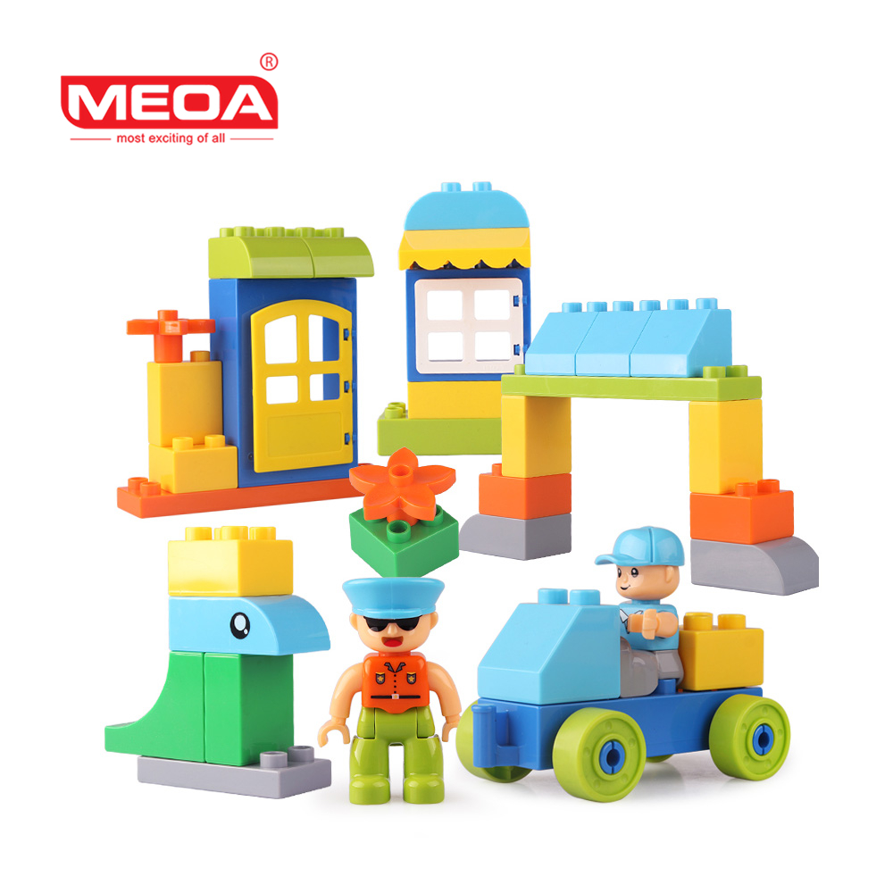 Buildable Blocks 36pcs Large Building Block Toys for Toddlers My Town Bricks Preschool Toy Compatible With Duplo Christmas Gift hm136 57pcs large particle building