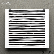 ZhuoAng black strips Clear Stamp for Scrapbooking Rubber Seal Paper Craft Stamps Card Making