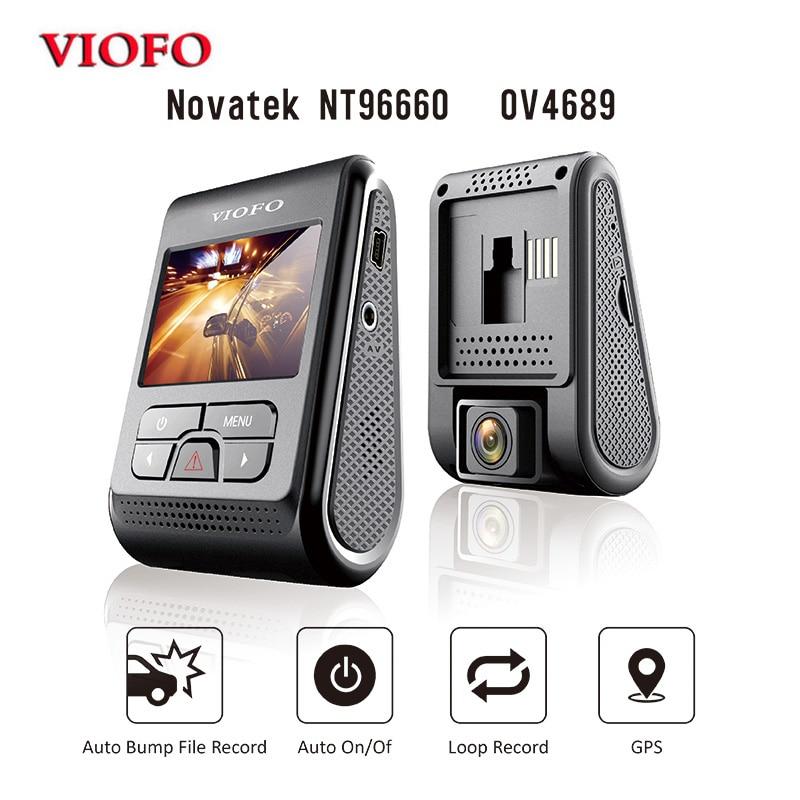 D'origine VIOFO A119 2.0 LCD Condensateur 2 K 1440 P Novatek 96660 HD De Voiture Dash vidéo enregistreur DVR GPS En Option CPL Filtre