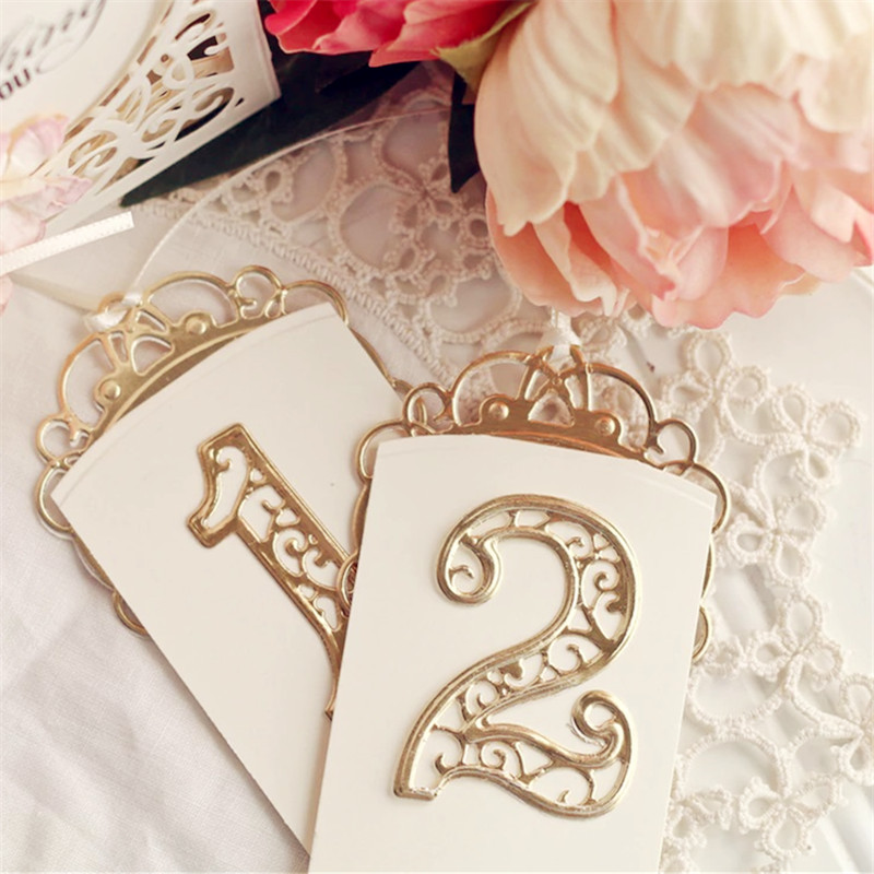 Lace Hollow Classical Numbers Metal Cutting Dies Stencils For Card Making Decorative Embossing Suit Paper Cards Stamp DIY