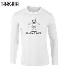 TARCHIA Men's T Shirts DIVEMASTER Long Sleeve T