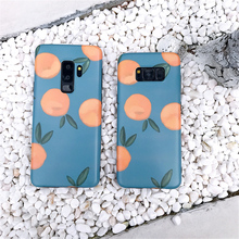 Cases For Samsung Galaxy S7Edge S8 S9 Plus Summer Fresh Orange Pattern Phone Case Note8 New Matte Soft TPU Back Covers Funda
