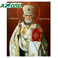 DIY Square Full Diamond Embroidery Icon Religion Pharaoh Rhinestones Cross Stitch Kits Russia Series Portrait Mosaic