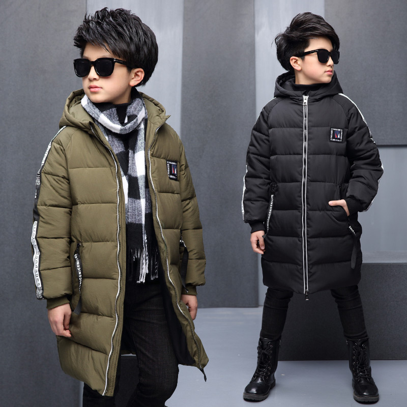 -30 Degree Childrens Winter Jackets Duck Down padded children clothing 2016 Big Boys Warm Winter Down Coat Thickening Outerwear