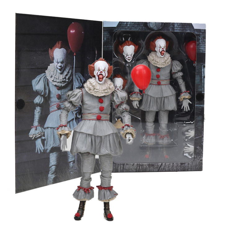 The Movie 1990 Stephen Kings It Pennywise The Clown Neca Action Figure Horror Terror Doll Pvc Collectible Model Toys Convenience Goods Toys & Hobbies