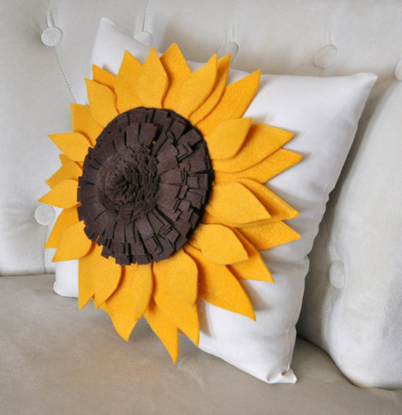 Sunflower Shaped Pillow