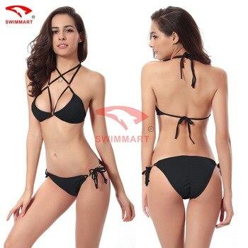 SWIMMART Hot Push Up Buttocks Gold Beads Bikini Swimsuits Swimwear Women Sexy Bikinis Set Bathing Suit Swim XL