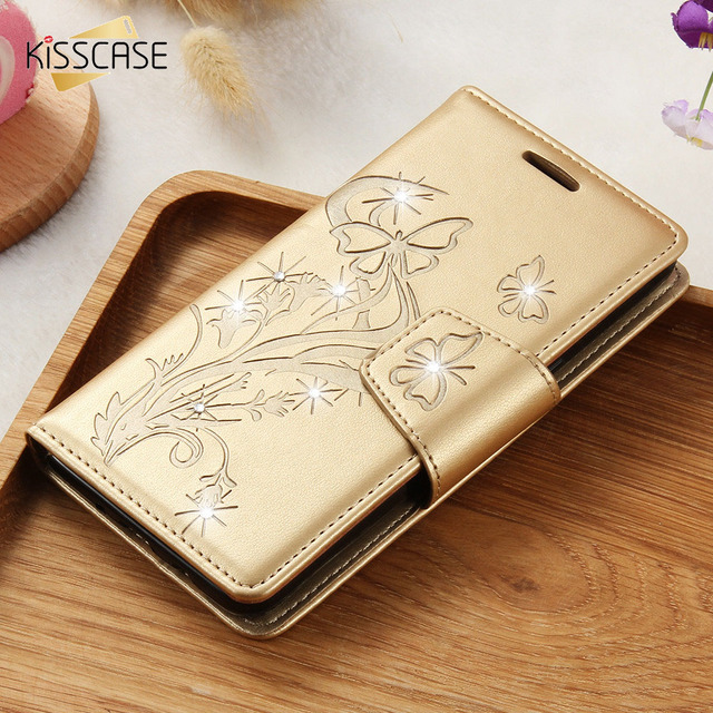 KISSCASE Phone Case for Samsung J5 2016 Cover PU Leather S8 Plus Flip Cover For Samsung Galaxy J510 J5 2016 Case Stent Card Slot