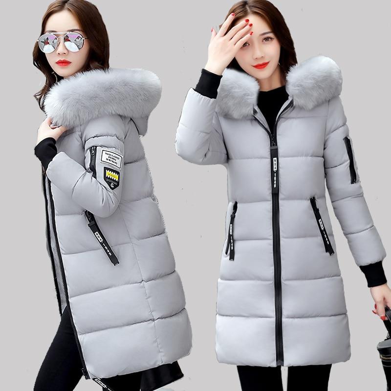 À rouge Hndjxxxy Chaud Femelle Parkas Veste Coton Manteau Noir Rembourré Nouveau D'automne D'hiver 2018 Survêtement Femmes gris blanc Capuchon Mince Courtes En grvqRgxw