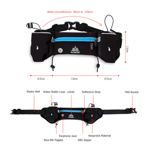 Image 2 - Aonijie E834マラソンジョギングサイクリング水分補給ベルトウエストヒップバッグポーチファニーパックパック電話250ミリリットル水ボトル