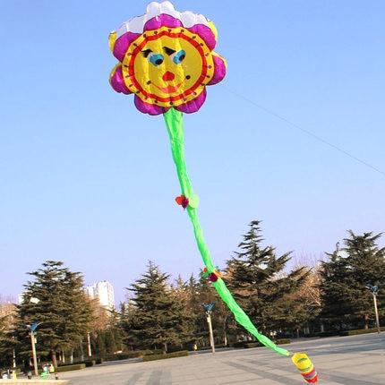 Nieuwe Aankomen Outdoor Fun Sports 8.4 m Zonnebloem Kite/Bloem Software Vliegers Met Handvat en Lijn Goede Vliegende-in Vliegers en accessoires van Speelgoed & Hobbies op  Groep 2