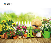 hot deal buy laeacco green spring flower garden tools grass wooden floor child baby scenic photography backdrop photo background photo studio