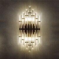 Vintagelll Nordic Утюг Кристалл Дизайнер светодио дный E14 настенный светильник бра для бара магазин фойе Спальня