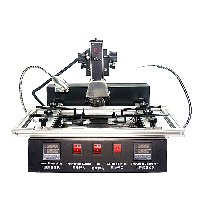 1900W IR bga machine LY M770 Rework station 220V 2 zones manual operation with brush stencil