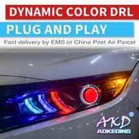 Car Styling LED Head Lamp for Honda civic G10 X headlights Mustang 2016 2020 New Civic LED D2H hid Bi Xenon Lens low beam