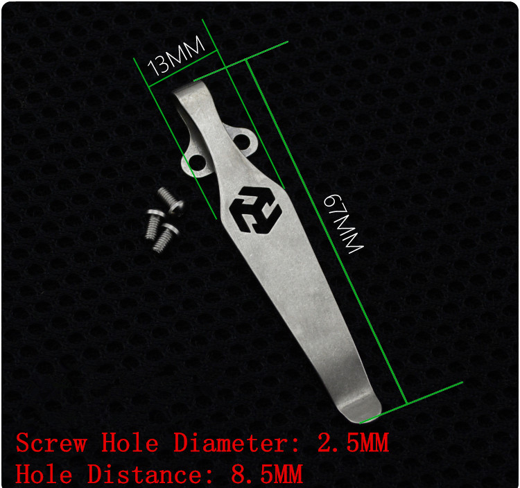 NEW EDC DIY Knife Material TC4 Titanium Alloy Knife Belt Clip Flashlight K Sheath Multi Tools Pocket Clip For Knife Multi Tools
