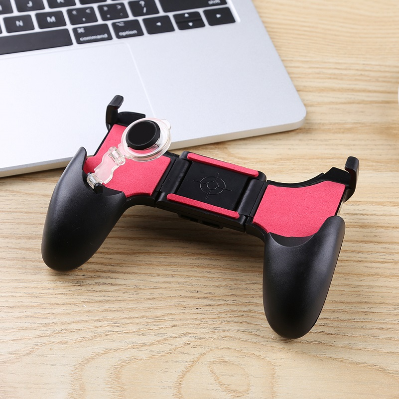 Video Games Back To Search Resultsconsumer Electronics 5 In 1 Joystick Controller Mobile Phone Gamepad L1 R1 Fire Shooter Buttons Trigger Handle For Pubg For Iphone Android