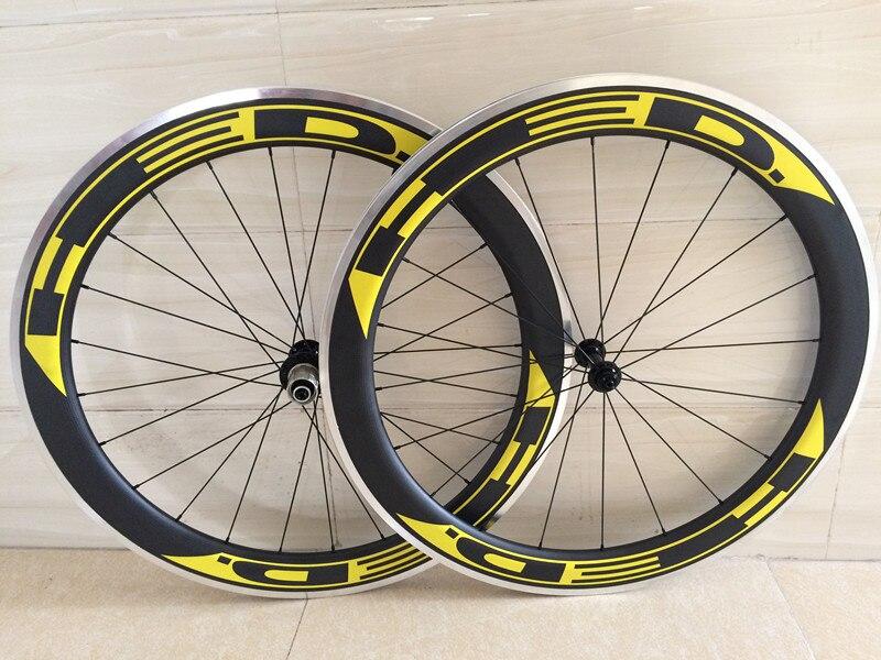 carbon 60mm alloy wheels 700C wheels clincher 23mm wideth rims ironfix 568 60 700