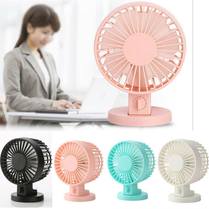 Color : Black Mini Portable Cooling Fan Mini USB Power Desk Stand Fan Cute Hangable Fan Home Office Desktop Decoration Portable Hot Summer Supply