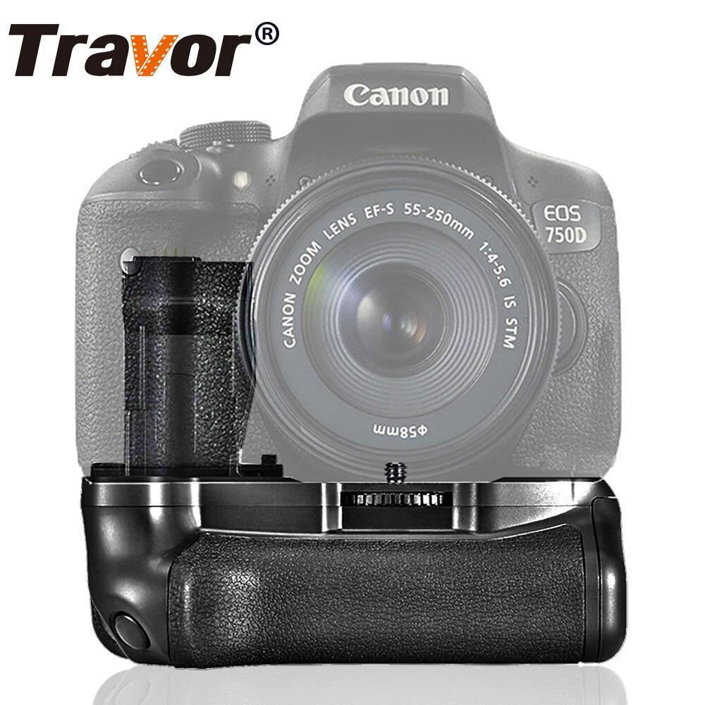 Travor Vertical Battery Grip Holder For Canon 750D T6i 760D T6s X8i 8000D EOS DSLR Camera Battery Handle Replace BG-E18