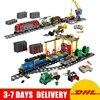 DHL Lepin 02008 Cargo Train 02009 Heavy Haul Train City Series Educational Building Block Bricks Model