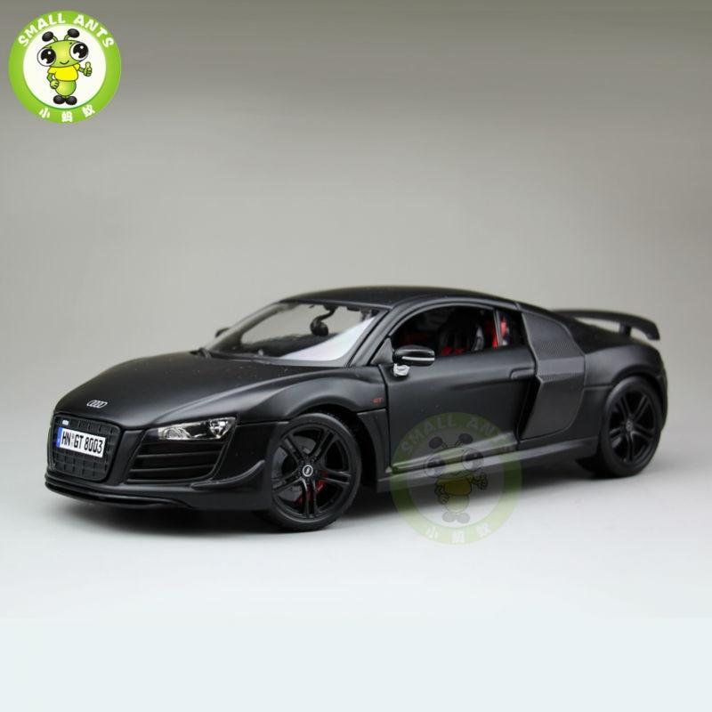 1:18 Scale Audi R8 Sports Racing Diecast Metal Car Model Maisto 36190 Matte black maisto lp770 4 1 18 scale alloy sports car model diecasts