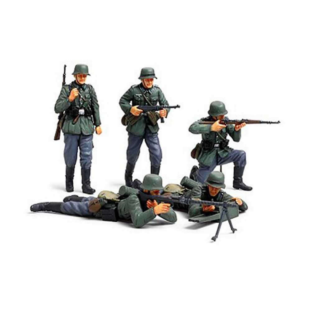 Tamiya 35293 1/35 Duitse Infanterie Set Franse Campagne Miniaturen Vergadering Militaire cijfers Model Building Kits oh RC speelgoed