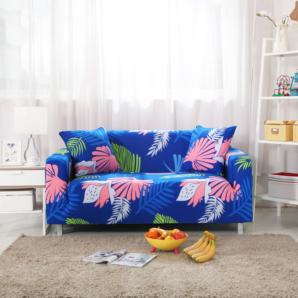 Awesome Blue Tropical Flowers Couch Sofa Covers For Living Room 100 Bralicious Painted Fabric Chair Ideas Braliciousco