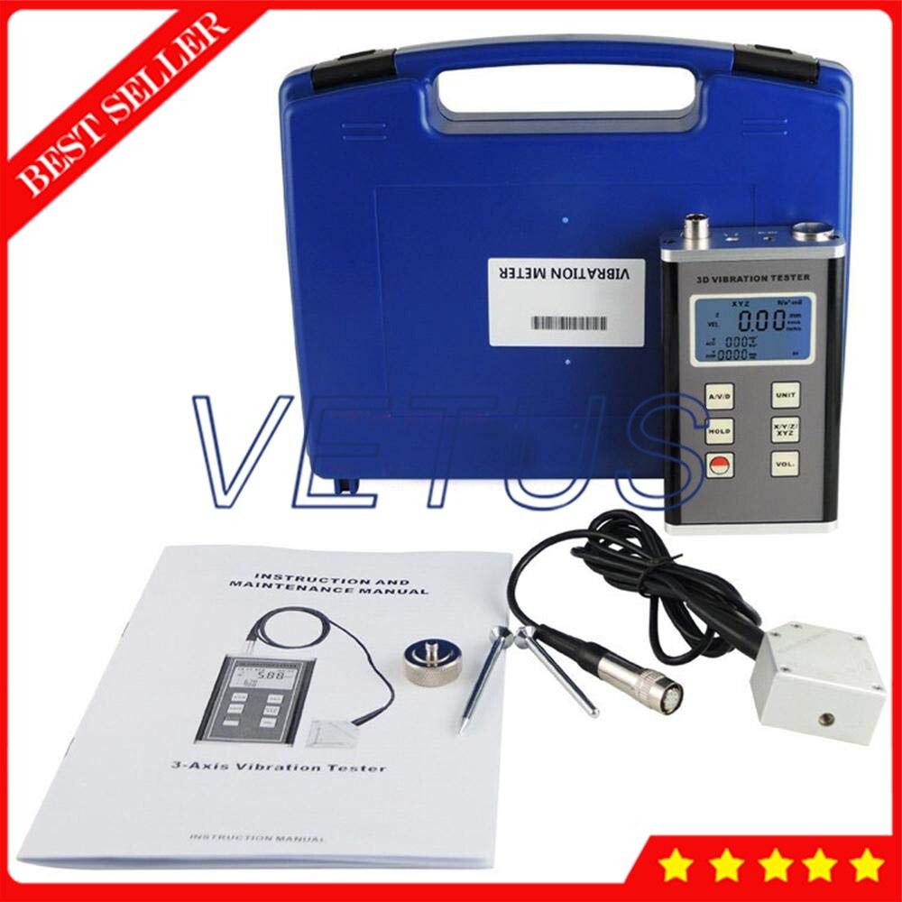 US $405 0 10% OFF|VM 6380 Digital Vibration Meter 3 Axis Piezoelectric  Accelerometer Sensor Vibrometer Meter-in Level Measuring Instruments from  Tools